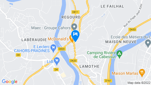ibis budget Cahors Map