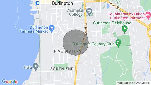 The Garden Studio, Nestled in Downtown Burlington Map