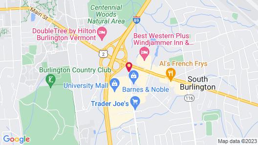 Homewood Suites by Hilton Burlington Map