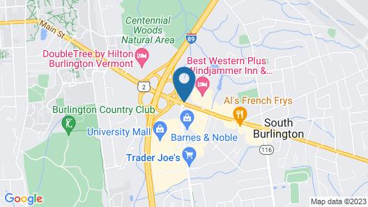 Holiday Inn Burlington Map