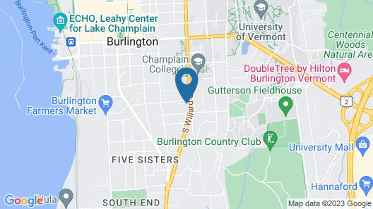 Willard Street Inn Map