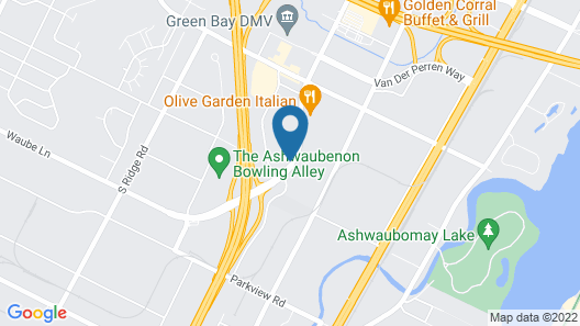 Super 8 by Wyndham Green Bay Near Stadium Map