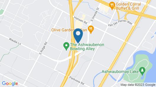 Motel 6 Green Bay, WI - Lambeau Map