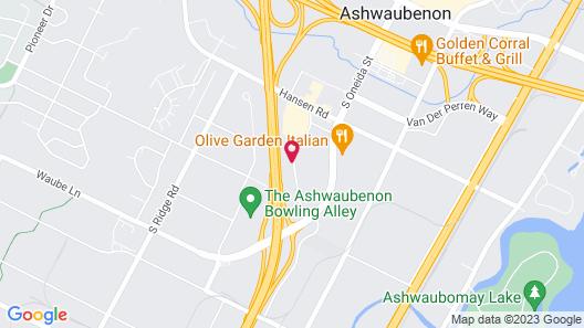 Hampton Inn Green Bay Map
