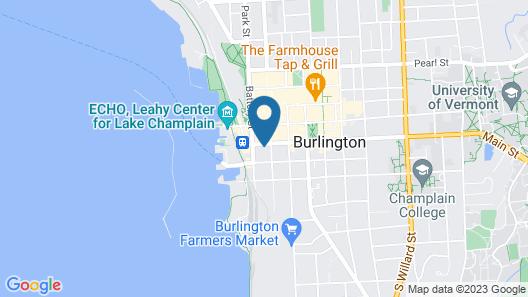Burlington Hostel Map