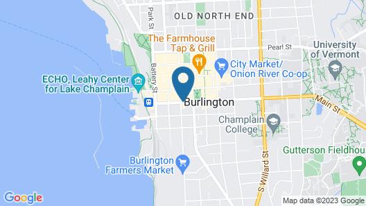 Hilton Garden Inn Burlington Downtown Map