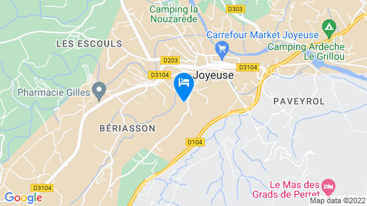 Air-conditioned Guest Room South Ardèche Swimming Pool Spa Map
