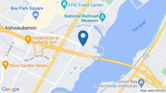 Aloft Green Bay Map