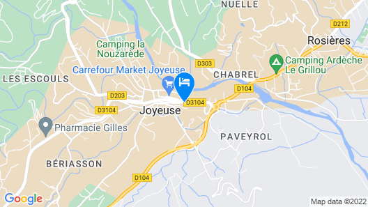Hotel Les Cèdres Map