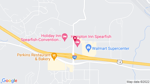 Quality Inn Spearfish Map