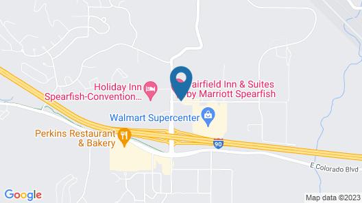 Fairfield Inn & Suites by Marriott Spearfish Map