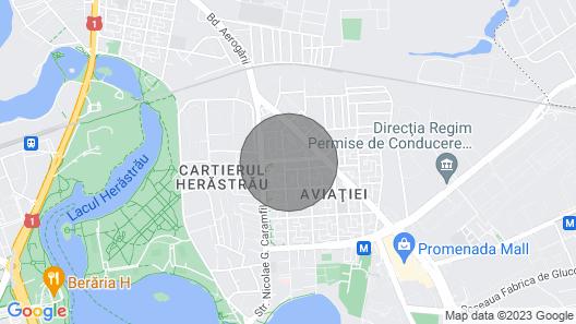 Aviatiei 1 - 1 bedroom apartment green area Map