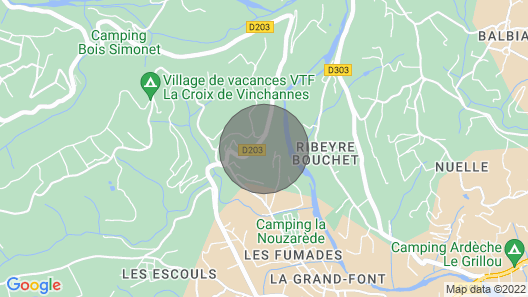 Holiday Gite in Southern Ardeche Map