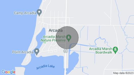 6 Blocks From Lake Michigan. Steps From Arcadia's new Marsh Boardwalk Map
