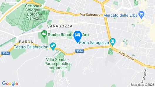 Bed in Bo Saragozza Map