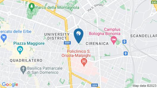 Aemilia Hotel Bologna Map