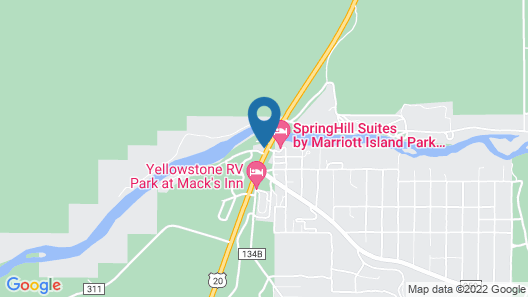 SpringHill Suites by Marriott Island Park Yellowstone Map