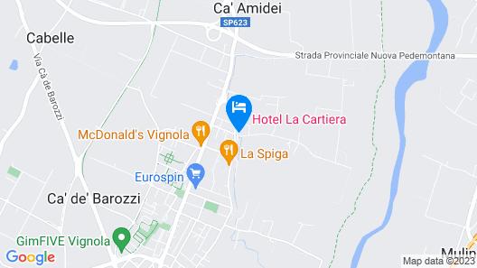 Hotel La Cartiera - Vignola Village Resort Map