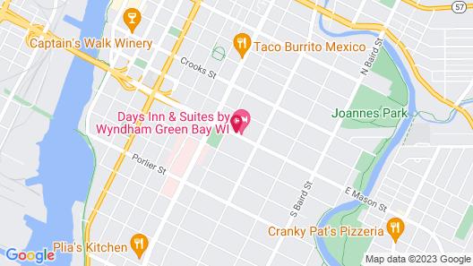 Days Inn & Suites by Wyndham Green Bay WI. Map