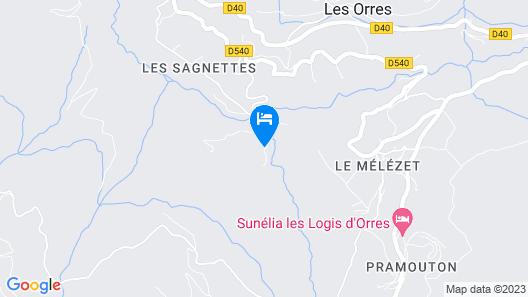 Auberge du Mélézet Map