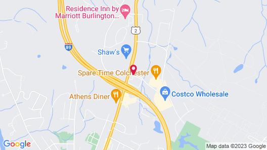 Hampton Inn Colchester Map