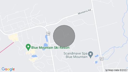 Luxury at Blue : Blue Mountain Chalet Map