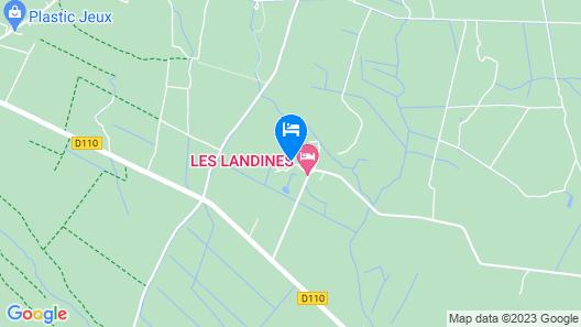 Les Landines Map
