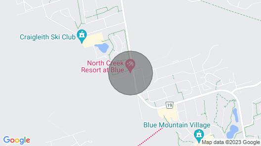 Blue Mountain Vacation Studio Condo at North Creek Resort Map