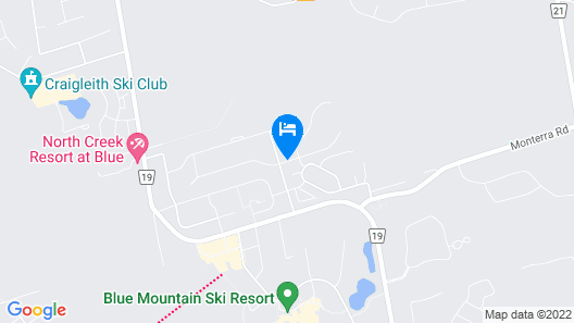 6 Bed Blue Mountain Chalet with Hot Tub #8 Map