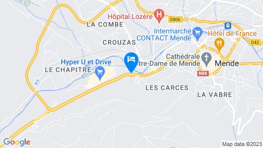 Deltour Hôtel Mende City Map