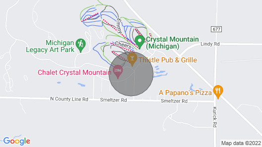 Crystal Mountain Home  - Just Steps From Ski And Golf Map