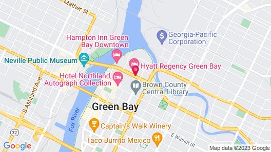 Hyatt Regency Green Bay Map