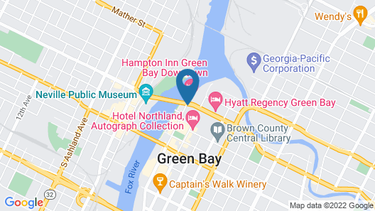 Hampton Inn Green Bay Downtown Map