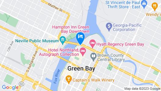 Hampton Inn Green Bay Downtown Map