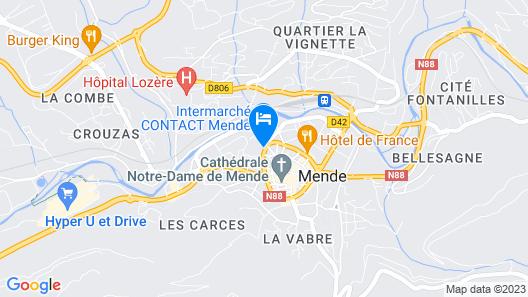 Hôtel Urbain V Map