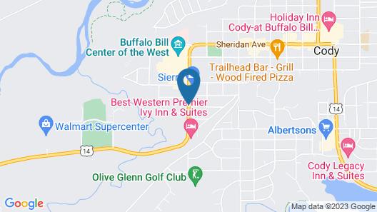 Best Western Sunset Inn Map