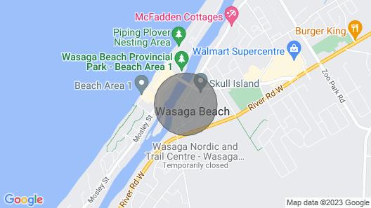 The River Bank House - Wasaga Beach Map