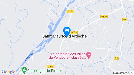 Hotel Domaine du Cros d'Auzon Map