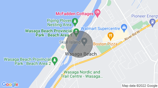Dock Life Beach 1 - Cottage 3, Riverside 2 bedroom, 3 min walk to Beach 1 Map