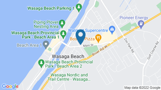 Wasaga Beach Inn And Cottages Map