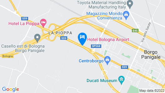 Hotel Bologna Airport Map