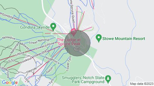 1325 Studio @ The Lodge at Spruce Peak Map