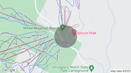 1228 Studio at The Lodge at Spruce Peak Map