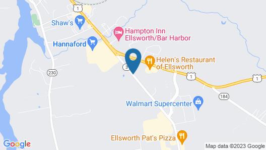Eagle's Lodge Motel Map