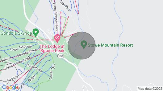 #1216 The Lodge At Spruce Peak Ski in Ski Out Studio Spruce Peak Village Views 2nd Floor Map