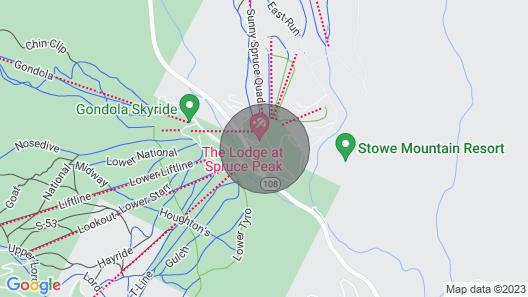 Luxury Slopeside Penthouse 2br/2.5ba!, Stowe VT Map