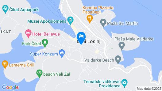 Apartments Loreta Map