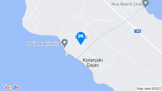 Apartment Gajac Map