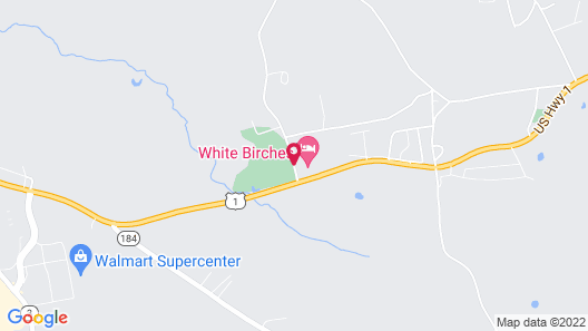 White Birches Motel Map