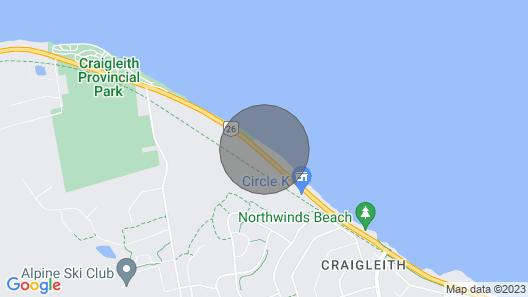 On the Georgian Bay, Close to ski Hills Map